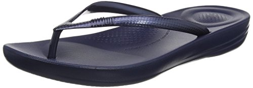 FitFlop Damen iQushion Ergonomic Flip-Flops Peeptoe Sandalen, Blue (Midnight Navy), 38 EU von FitFlop