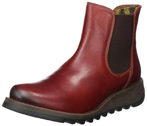 Fly London Damen Salv Chelsea Boots, Rot (Red 004), 41 EU von FLY London