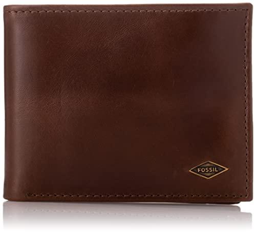 portemonnaies von fossil f�r m�nner g�nstig online kaufen bei fashn de  fossil herren ryan geldb�rse, braun (dark brown), 0 5x8 9x12