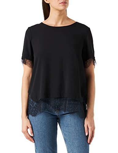 French Connection Damen Chika Mix T-Shirt, Schwarz, Medium von French Connection