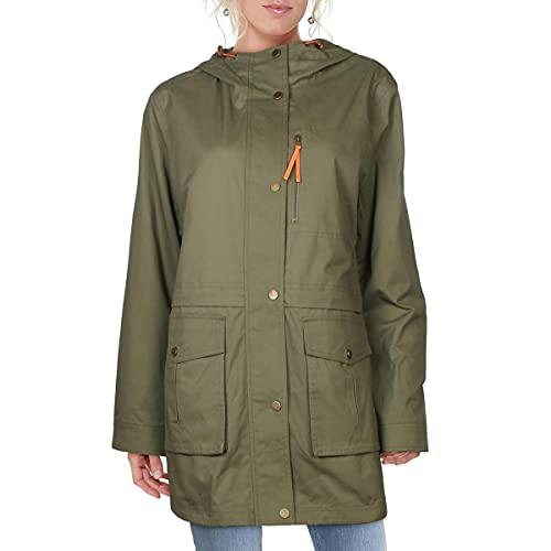 French Connection Damen Light Weight Cotton Jacket Anorak, olivgrün, Large von French Connection