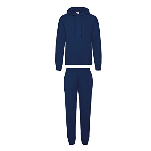 2er-Set Fruit of the Loom Hausanzug Sportanzug Jogginghose & Kapuzensweatshirt (XL, Navy) von Fruit of the Loom