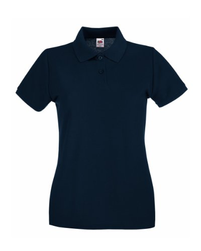 Fruit Of The Loom, Damen-Poloshirt, Blau Small von Fruit of the Loom