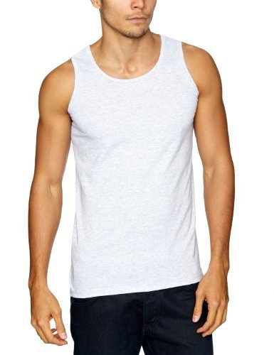 86fa269db9463c Fruit of the Loom Herren Unterhemd, Athletic Vest, 3er Pack, Mehrfarbig  (Black