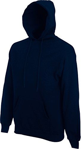 Fruit of the Loom Hooded Sweat Deep Navy - L von Fruit of the Loom