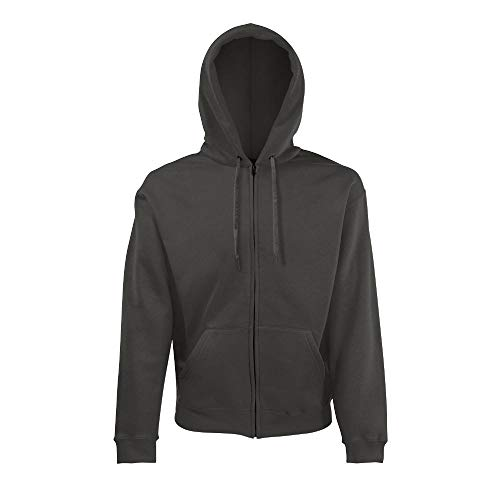Fruit of the Loom Hooded Sweat-Jacket M,Light Graphite von Fruit of the Loom