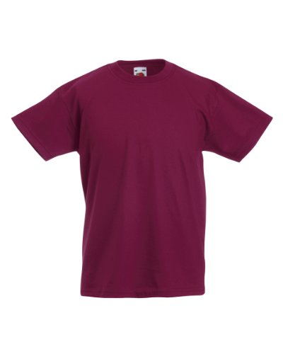 Fruit of the Loom Jungen T-Shirt, Rouge - Bordeaux, 14 Jahre von Fruit of the Loom