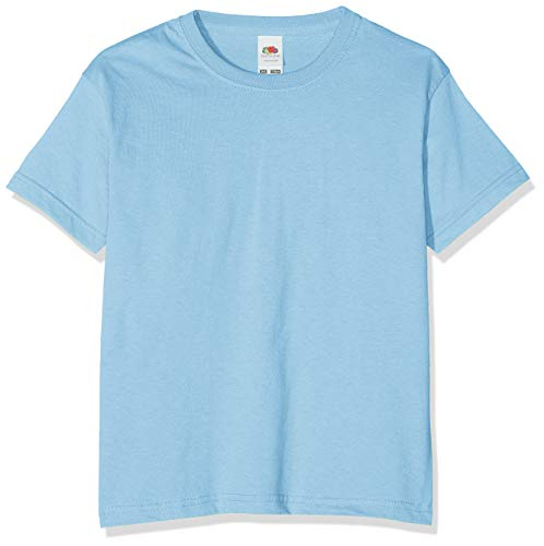 Fruit of the Loom Jungen T-Shirt, Blue (Sky), 12-13 Jahre (152) von Fruit of the Loom