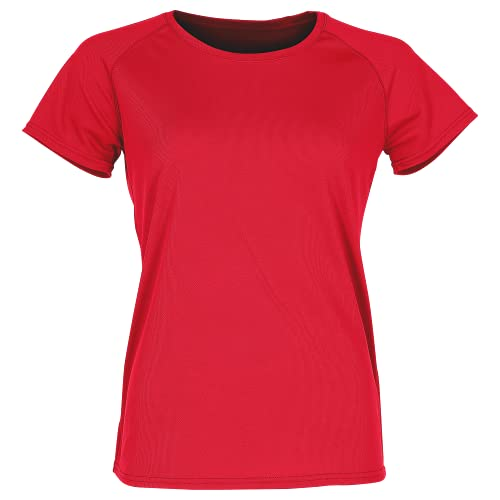 Fruit of the Loom - Lady-Fit Funktionsshirt 'Performance T' / Red, S von Fruit of the Loom