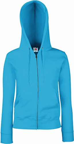 Fruit of the Loom - Lady-Fit Hooded Sweat Jacket - Modell 2013 XL,Azure Blue von Fruit of the Loom