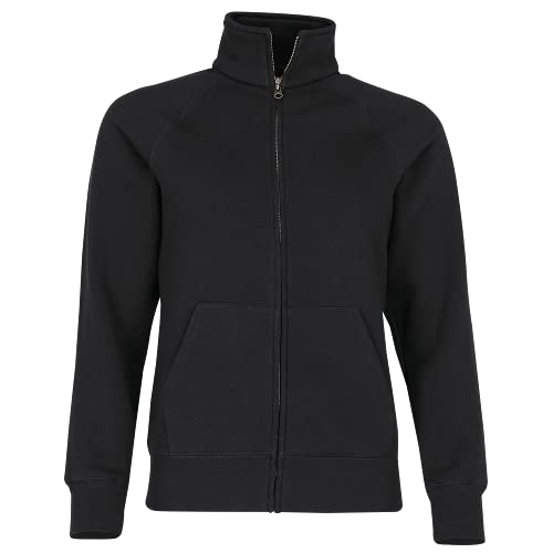 Fruit of the Loom - Lady-Fit Sweat Jacket - Modell 2013 / Black, S S,Black von Fruit of the Loom