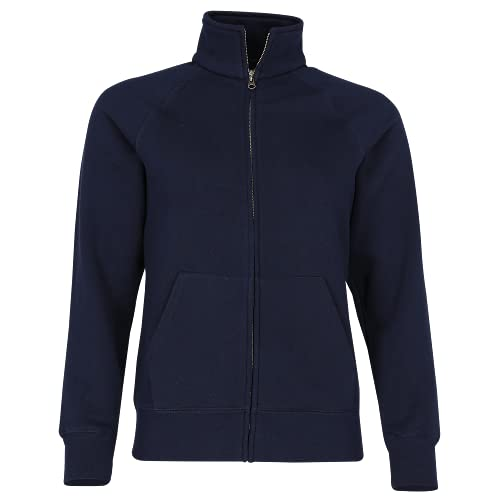 Fruit of the Loom - Lady-Fit Sweat Jacket - Modell 2013 / Deep Navy, XL XL,Deep Navy von Fruit of the Loom