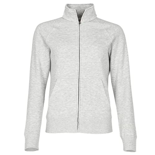 Fruit of the Loom - Lady-Fit Sweat Jacket - Modell 2013 / Heather Grey, XXL XXL,Heather Grey von Fruit of the Loom