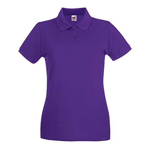Fruit of the Loom Premium Polo Lady-Fit - Farbe: Purple - Größe: XL von Fruit of the Loom