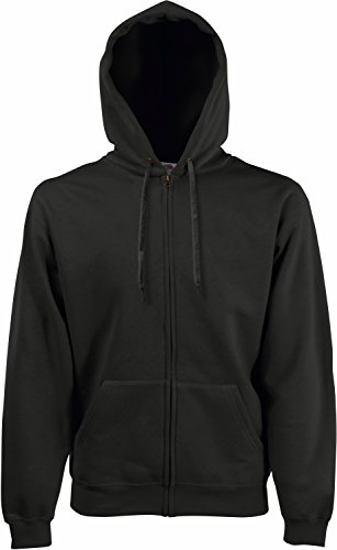 Fruit of the Loom: Hooded Zip Sweat 62-034-0, Größe:L;Farbe:Charcoal von Fruit of the Loom