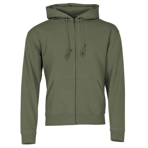 Fruit of the Loom: Hooded Zip Sweat 62-034-0, Größe:M;Farbe:Classic Olive von Fruit of the Loom