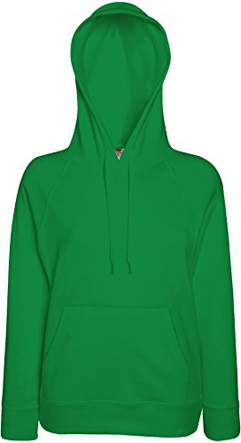 Fruit of the Loom: Lady-Fit Lightweight Hooded Sweat 62-148-0, Größe:M;Farbe:Kelly Green von Fruit of the Loom