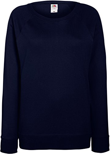 Fruit of the Loom: Lady-Fit Lightweight Raglan Sweat 62-146-0, Größe:XL;Farbe:Deep Navy von Fruit of the Loom