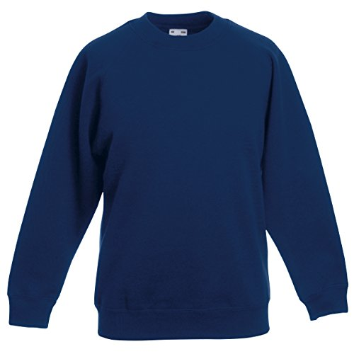Fruite of the Loom Kinder Raglan Sweatshirt, Navy Blau, Gr.164 von Fruit of the Loom