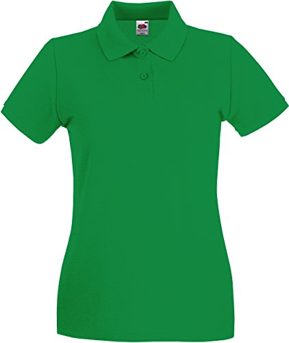 Lady-Fit Premium Poloshirt Fruit of the Loom neue Farben 2017 L Kelly Green von Fruit of the Loom