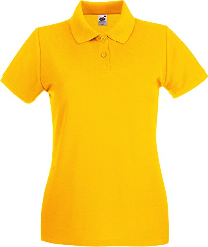 Lady-Fit Premium Poloshirt Fruit of the Loom neue Farben 2017 L Sunflower von Fruit of the Loom