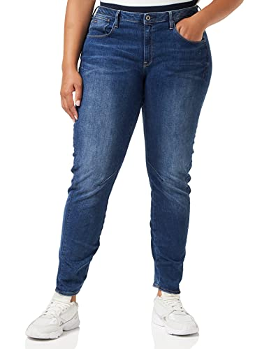 G-STAR RAW Damen Jeans Arc 3d Low Waist Boyfriend Jeans, Blau (Medium Aged 6553-071), 32W / 36L von G-STAR RAW