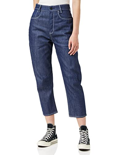 G-STAR RAW Womens C-STAQ 3D Cropped Boyfriend C Jeans, raw Denim C665-001, 26W / 34L von G-STAR RAW
