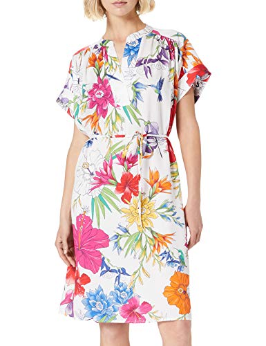 GANT Damen D2. Humming FLORAL Popover Dress Kleid, Eggshell, 34 von GANT