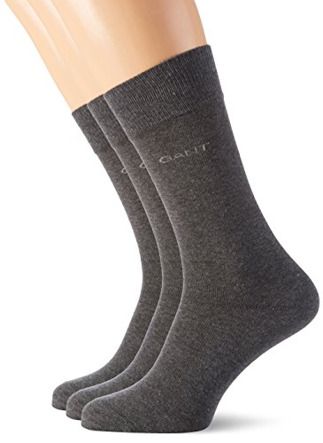 """GANT Herren 3-Pack Soft Cotton Socks 3 Grau (Charcoal Melange 90), One size"" von GANT"