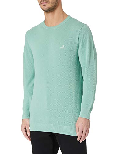 GANT Herren Cotton Pique C-Neck Pullover, Peppermint, L von GANT