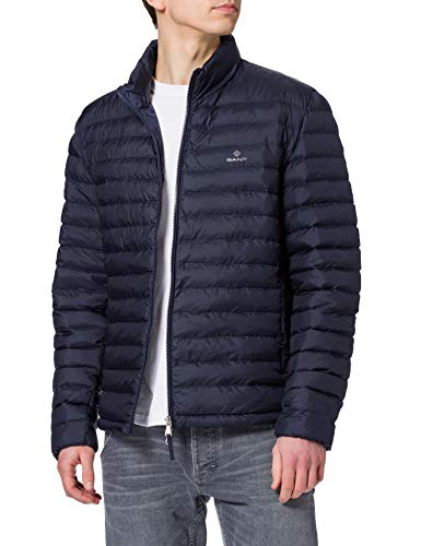 GANT Herren The Central Pond Quilter Jacke, Blau (Evening