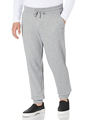 GANT Herren ORIGINAL Sweat Pants, Grey Melange, XL von GANT