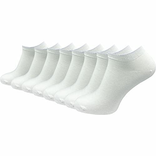 GAWILO 9 Paar Natur Damen Sneaker Socken – Mädchen Sneaker Socken – 100% Baumwolle – ohne einschneidenden Gummidruck – ohne Naht – Spitze