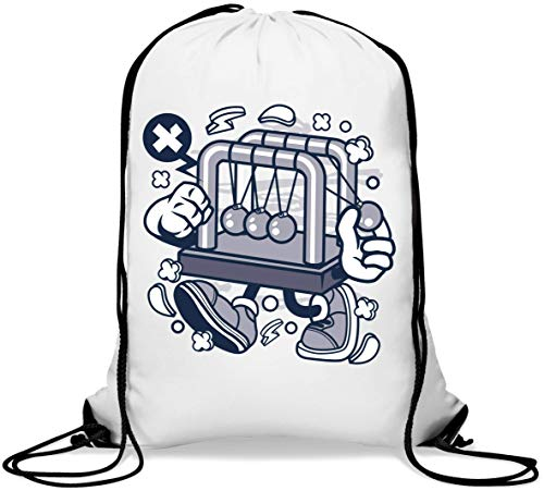 Cradle Balance Newtons Cradle Ball Graphic Gym Sack Casual Drawstring Bag von Generic