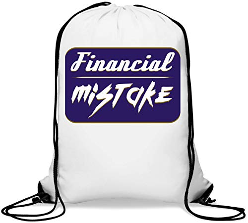 Financial Mistake Funny Wrong Decision Poster Art Gym Sack Casual Drawstring Bag von Generic