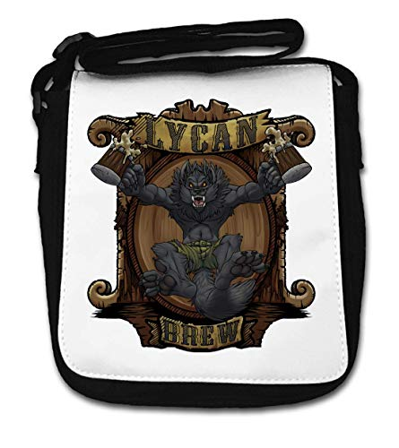 Funny Werewolf Lycan Brew Beer Mugs Dog Small Shoulder Bag von Generic