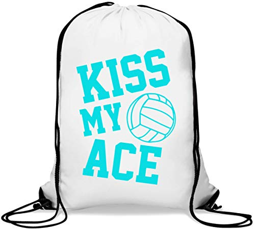Kiss My Ace Volleyball Serve Graphic Gym Sack Casual Drawstring Bag von Generic