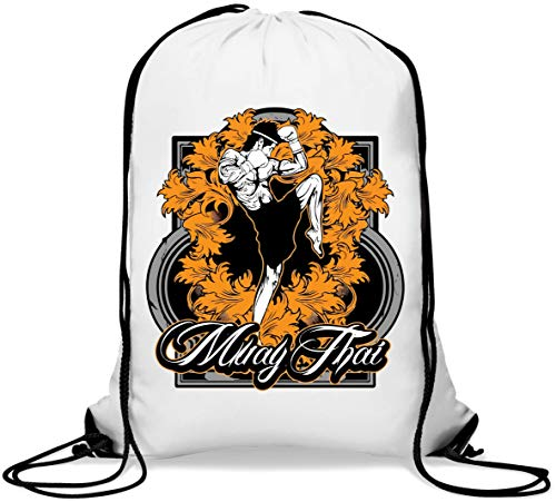 Muay Thai Fighter Martial Arts Poster Art Gym Sack Casual Drawstring Bag von Generic