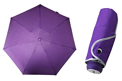 TIROSS Regenschrim, compact Pocket Umbrella - Ultra Mini, Flat, solid, Slim (violett) von Generic