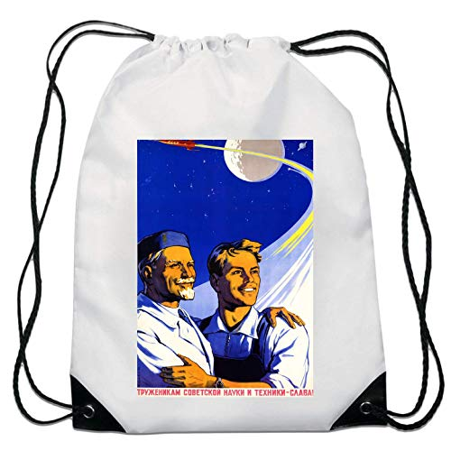 USSR CCCP Poster Glory to Science Technology Kordelzugtasche von Generic