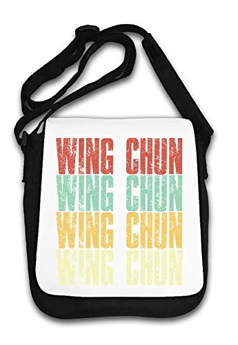 Wing Chun Vintage Faded Style Martial Arts Kung Fu Schultertasche von Generic