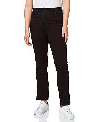 Gerry Weber Damen Hose Jeans lang 5-Pocket Jeans Straight Fit Romy Black  Black Denim cc967436eb