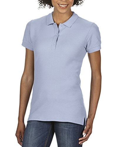 Gildan Damen Ladies' Premium Cotton Double Piqué Polo/85800L Poloshirt, Blau (Light Blue 69), 38 (Herstellergröße: M) von Gildan