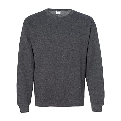 Gildan Herren 50/50 Adult Crewneck Sweat Sweatshirt, Grau (Dark Heather), XXL von Gildan