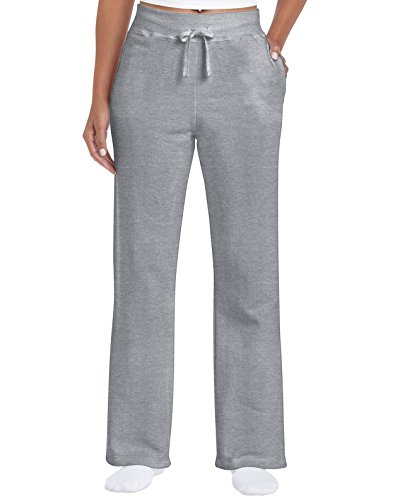 Gildan Damen Open Bottom Sweatpants Trainingshose, Grau-Sport Grey, XX-Large von Gildan