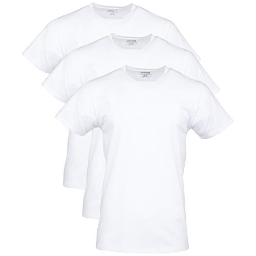Gildan Herren Cotton Stretch Crew T-Shirt Unterwäsche, Weiß (Artic White) (3er-Pack), XX-Large von Gildan