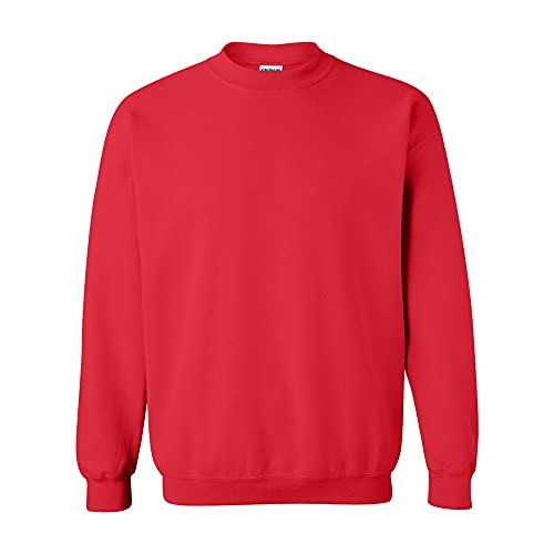 Gildan Herren Heavy Blend Sweatshirt mit Rundhalsausschnitt, Red (Antique Cherry Red), XL von Gildan