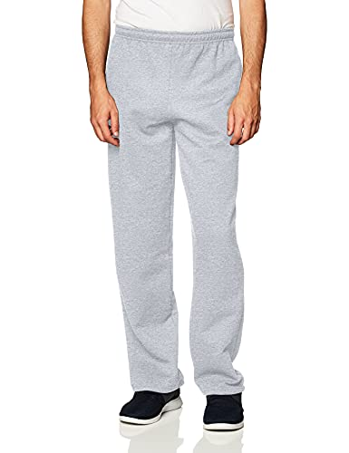 Gildan Herren Open Bottom Sweatpant with Pockets Jogginghose, Grau-Sport Grey, Klein von Gildan