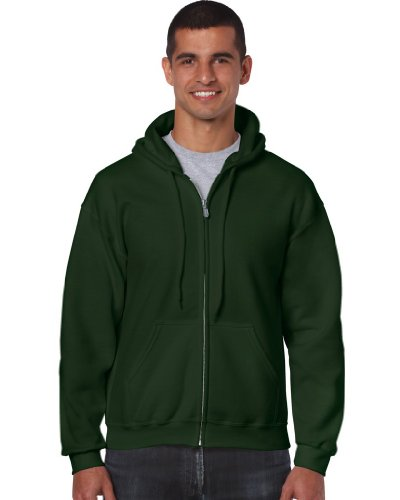 Gildan - Kapuzen Sweat-Jacke 'Heavyweight Full Zip' M,Forest Green von Gildan