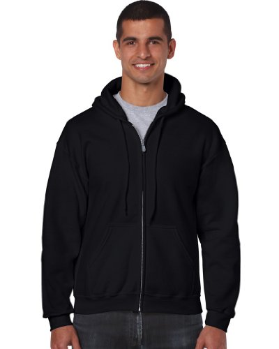Gildan - Kapuzen Sweat-Jacke 'Heavyweight Full Zip' XXL,Black von Gildan